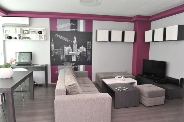 几何布局的现代小户型公寓