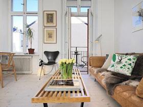 設計完美的北歐一室公寓