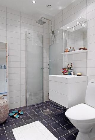 北欧风格公寓浪漫整体卫浴效果图