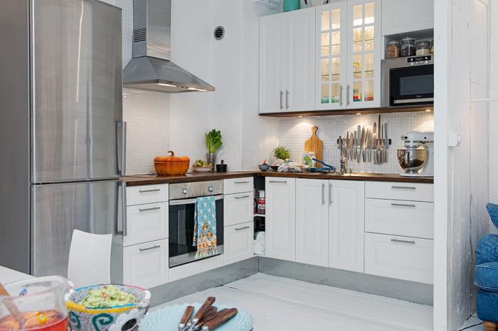北欧风格白色整体厨房旧房改造家居图片