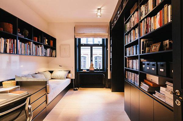 北欧风格别墅奢华书房装修图片