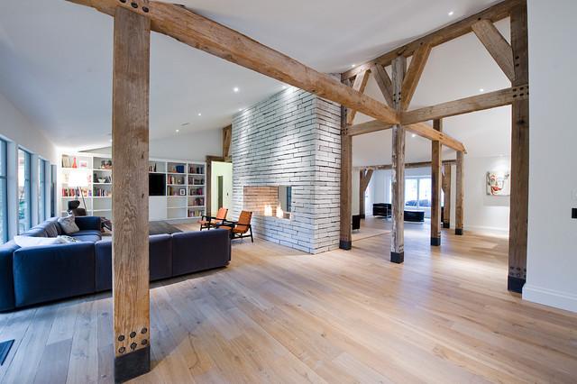 别墅木地板效果图大全用木地板装修的别墅客厅效果图图片15