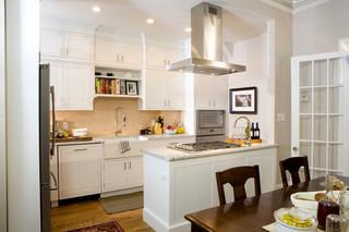 白色整洁的厨房 视觉的享受