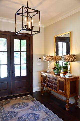 现代简约风格三层小别墅简约时尚门厅隔断装潢