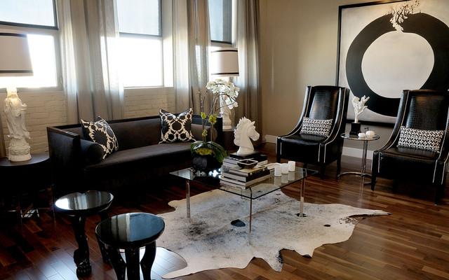 混搭风格精装公寓稳重 客厅效果图