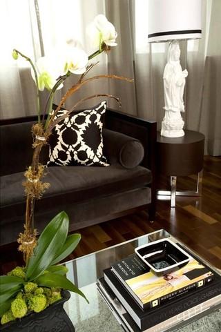 混搭风格复式公寓稳重客厅沙发摆放效果图