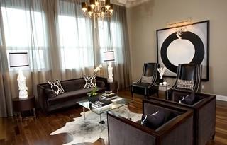 混搭风格客厅小型公寓稳重别墅背景墙效果图