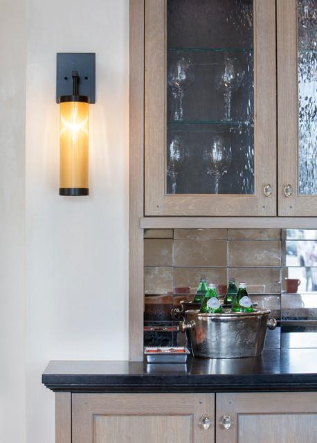 现代简约风格厨房三层连体别墅时尚卧室室内装修酒柜图片