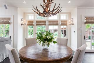 混搭风格客厅2013别墅实用家庭餐桌图片