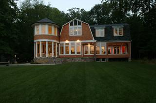 现代简约风格卫生间一层别墅及简洁家庭小花园设计