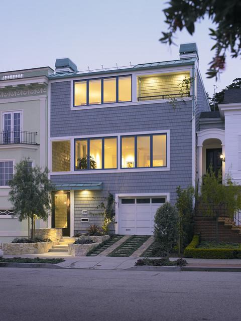层独栋别墅简洁不锈钢大门效果图