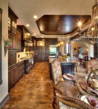 现代欧式风格一层半别墅舒适办公室过道装修效果图