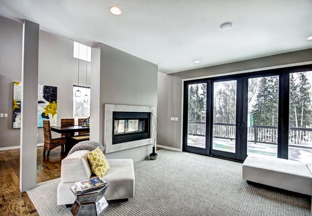 现代简约风格2013别墅及舒适客厅过道吊顶设计