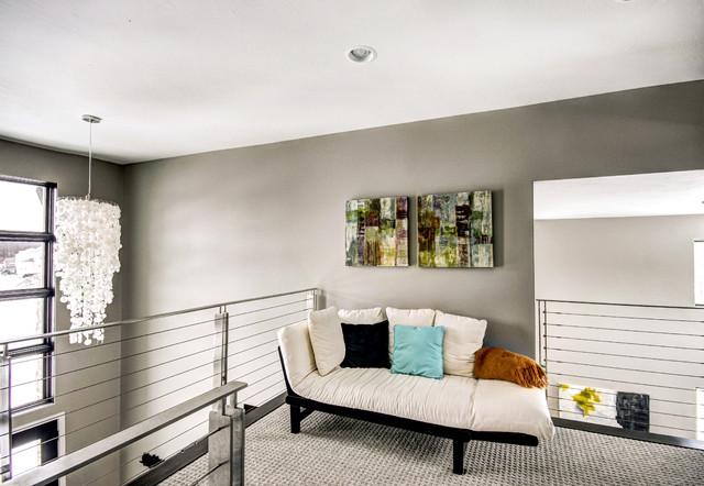 现代简约风格卧室三层独栋别墅舒适小客厅沙发改造