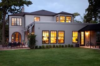 现代简约风格厨房三层别墅及舒适入门花园装修效果图