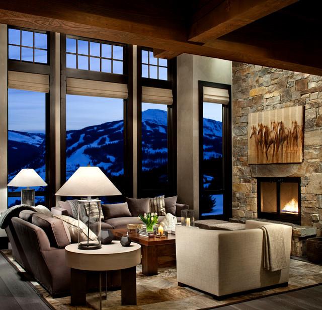 现代简约风格客厅三层别墅及舒适 客厅设计
