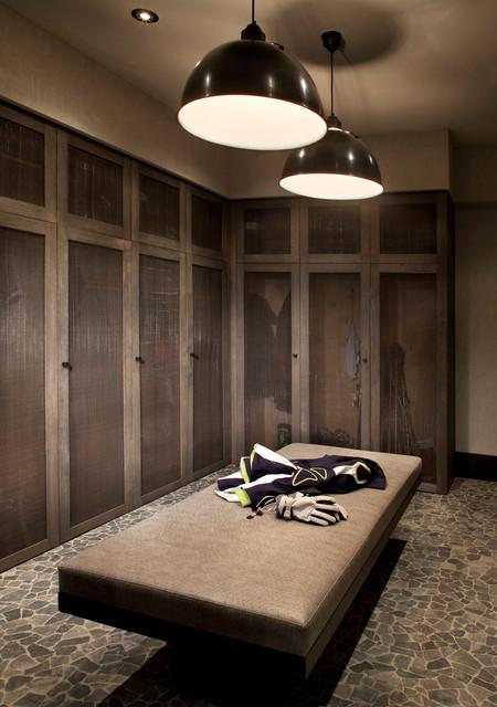 现代简约风格餐厅2层别墅舒适欧式衣帽间效果图