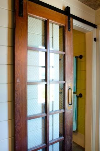 现代简约风格卧室三层双拼别墅简单实用卧室推拉门效果图