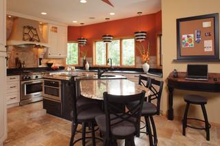 现代简约风格厨房300平别墅舒适厨房吧台效果图