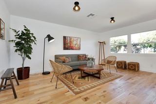 现代简约风格客厅一层别墅及阳台实用2013电视背景墙装修效果图