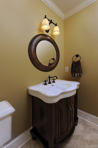 美式风格客厅三层平顶别墅舒适品牌浴室柜效果图