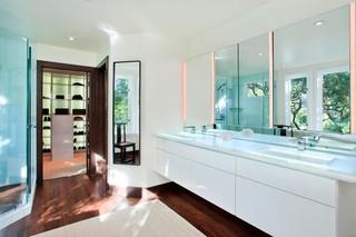 现代简约风格餐厅三层小别墅阳台实用浴室柜效果图