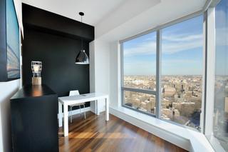 现代简约风格卫生间小型公寓舒适卧室窗户效果图