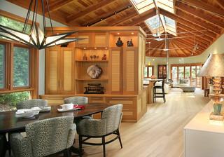 现代简约风格餐厅三层双拼别墅实用卧室室外灯具效果图