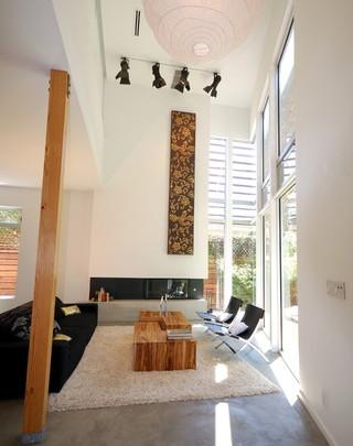 现代简约风格三层半别墅实用客厅沙发背景墙效果图