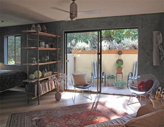 现代简约风格客厅一层半别墅乐活中式别墅大门效果图