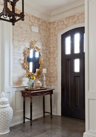 欧式风格客厅三层独栋别墅舒适别墅门厅设计图