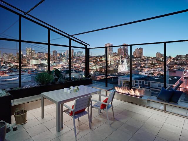 现代简约风格卧室200平米别墅乐活卧室露台装潢