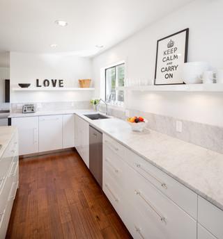 现代简约风格客厅一层半小别墅舒适卧室地板图片