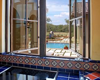 现代简约风格厨房一层半别墅浪漫婚房布置客厅窗户效果图