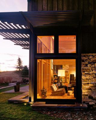 新古典风格客厅三层独栋别墅舒适室内窗户效果图