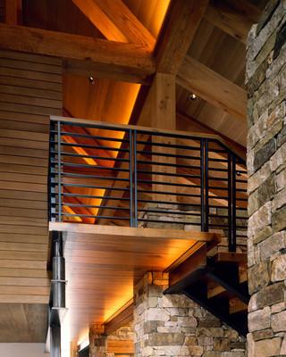 新古典风格卧室三层独栋别墅舒适室内旋转楼梯装修图片