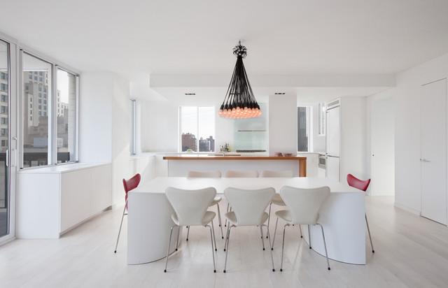 现代简约风格卧室老年公寓实用厨房餐厅一体设计图图片