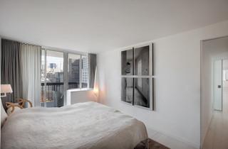 现代简约风格卧室小型公寓阳台实用10平卧室设计图