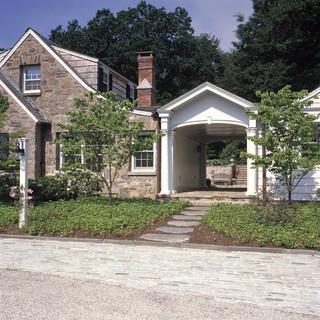 现代简约风格三层连体别墅时尚卧室装饰别墅门厅效果图