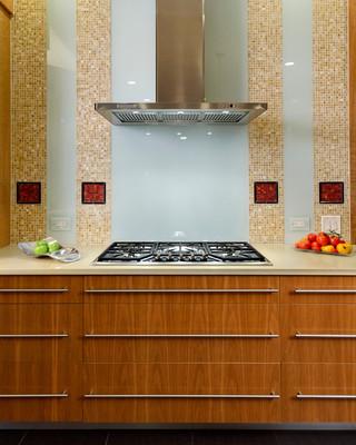 现代简约风格厨房三层别墅及阳台实用橱柜设计图