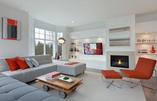 现代简约风格餐厅一层别墅简单实用砖砌真火壁炉设计图图片