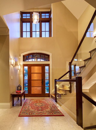 房间欧式风格200平米别墅客厅简洁门厅走廊效果图
