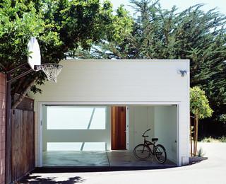 现代简约风格卫生间三层平顶别墅时尚片楼顶花园装修