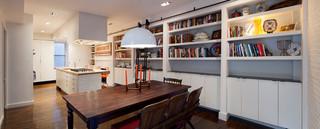 现代简约风格客厅300平别墅阳台实用书房装饰效果图