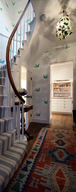 现代简约风格厨房三层别墅及阳台实用家装楼梯效果图