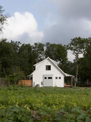 美式乡村风格卧室3层别墅简单实用露台花园装修效果图
