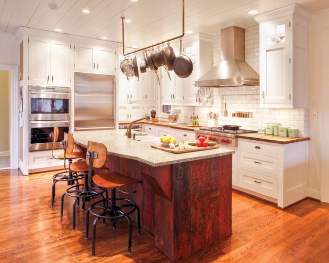 现代简约风格餐厅三层半别墅简单实用厨房吧台设计图纸