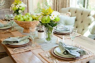 欧式风格客厅一层半别墅简洁卧室红木餐桌效果图