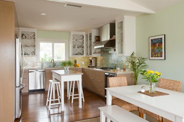 现代简约风格客厅精装公寓温馨卧室厨房餐厅客厅一体装修图片