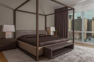 现代简约风格复式阳台实用10平米小卧室装修效果图